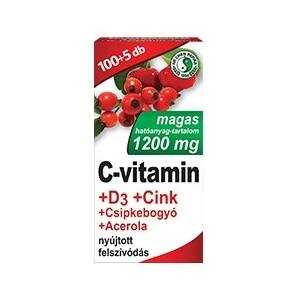 DR. CHEN C-VITAMIN  D3-VITAMIN CINK ACEROLA CSIPKEBOGYÓ TABLETTA 105DB
