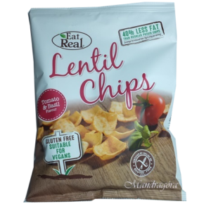 EAT REAL LENCSE CHIPS  PARADICSOM ÉS BAZSALIKOM  40G