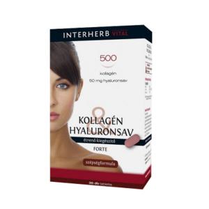 INTERHERB KOLLAGÉN&HYALURONSAV FORTE TABLETTA   30db