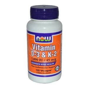 NOW VITAMIN D3 & K2 KAPSZULA   120DB
