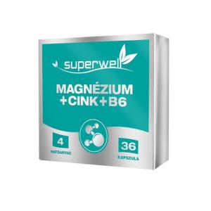 SUPERWELL MAGNÉZIUM+CINK+B6  21,6G KAPSZULA   36DB