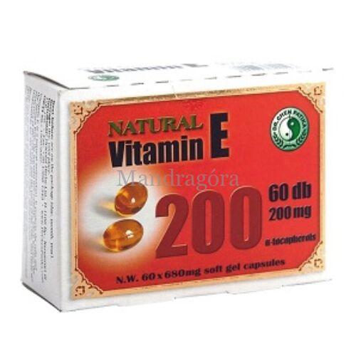 DR. CHEN E-VITAMIN 200MG-OS LÁGYZSELATIN KAPSZULA 60DB