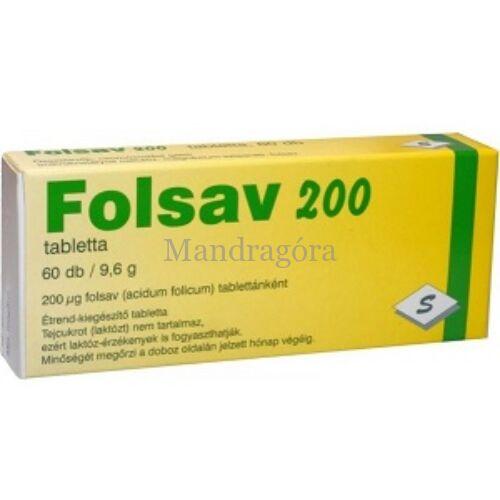 SELENIUM FOLSAV TABLETTA, 60 db