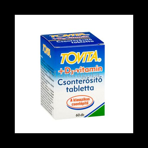 TOVITA D3-VITAMIN CSONTERŐSÍTŐ TABLETTA  60DB